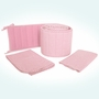 Sleeping Partners Tadpoles Classics Pink Gingham 3 Piece Cradle Set