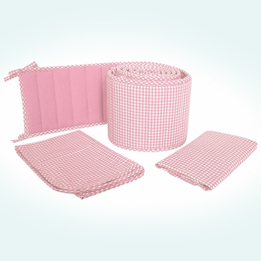 Sleeping Partners Tadpoles Classics Pink Gingham 3 Piece Cradle Set - Click to enlarge