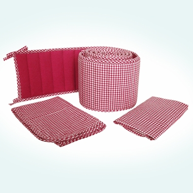 Sleeping Partners Tadpoles Classics Red Gingham 3 Piece Cradle Set - Click to enlarge