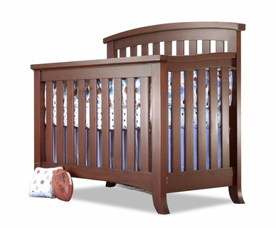 Sorelle Alex 4-in-1 Convertible Crib in Mocha Cafe
