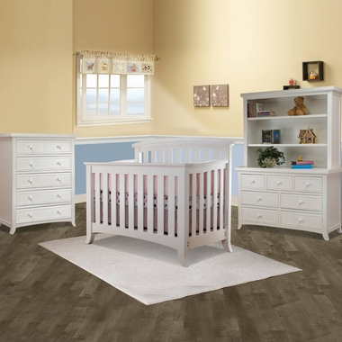 Sorelle Alex 4 Piece Nursery Set 4 In 1 Convertible Crib