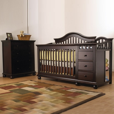 Sorelle Cape Cod 2 Piece Nursery Set Crib And Changer With Toddler