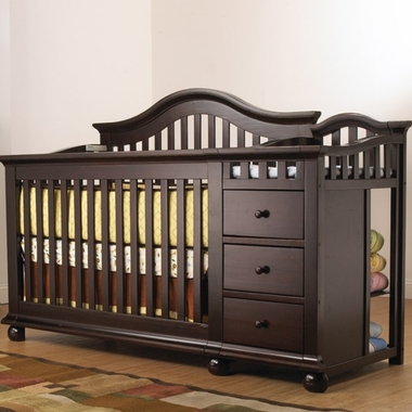 Sorelle Cape Cod Convertible Crib And Changer In Espresso