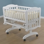 Sorelle Dondolla Cradle & Mattress in White