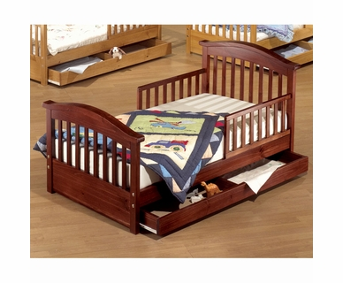 Sorelle Joel Pine Toddler Bed w/Drawer in Cherry