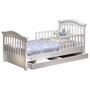 Sorelle Joel Pine Toddler Bed with Underbed Drawer in White