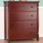 Sorelle Tuscany 4 Drawer Dresser in Cherry