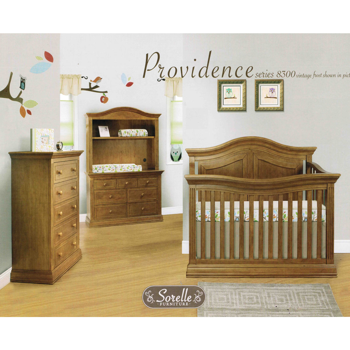 Sorelle Providence 4 In 1 Convertible Crib In Vintage Frost FREE SHIPPING