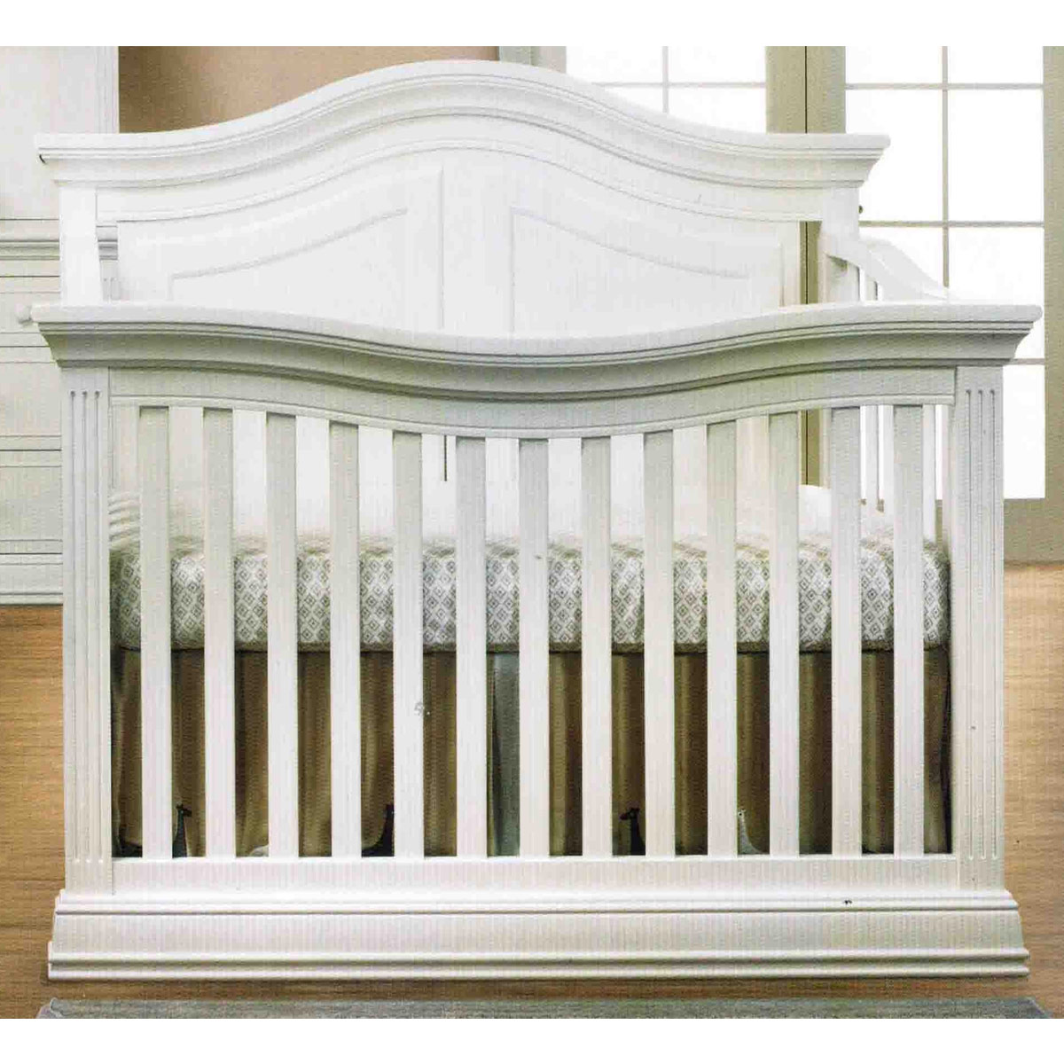 - Sorelle Providence 4-in-1 Convertible Crib In White FREE SHIPPING