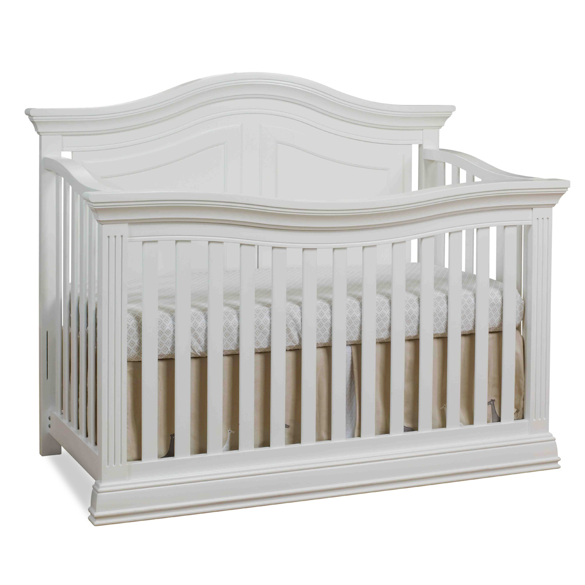 Sorelle Providence 4 In 1 Convertible Crib In White Free Shipping