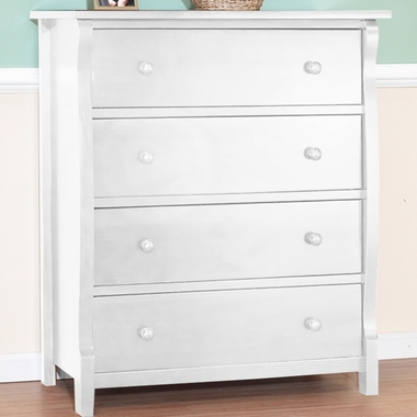 Sorelle Tuscany 4 Drawer Dresser in White - Click to enlarge