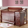Sorelle Tuscany Crib and Changer in Cherry