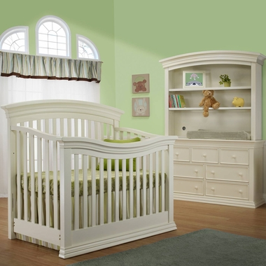 Sorelle Verona 3 Piece Nursery Set   4 In 1 Convertible Crib, Double  Dresser And