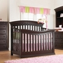 Sorelle Verona 4 in 1 Convertible Crib in Espresso