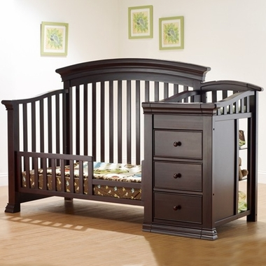 Sorelle Verona Crib & Changer Toddler Rail in Espresso - Click to enlarge