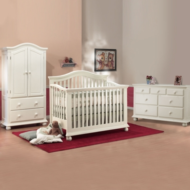 Sorelle Vista 3 Piece Nursery Set 4 In 1 Convertible Crib Double