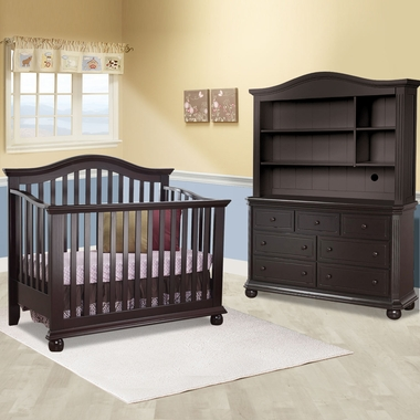 Sorelle Vista 3 Piece Nursery Set 4 In 1 Convertible Crib Double Dresser And