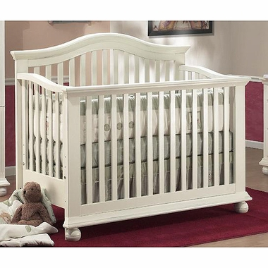 Gentil Sorelle Vista 4 In 1 Pine Crib In French White   Click To Enlarge