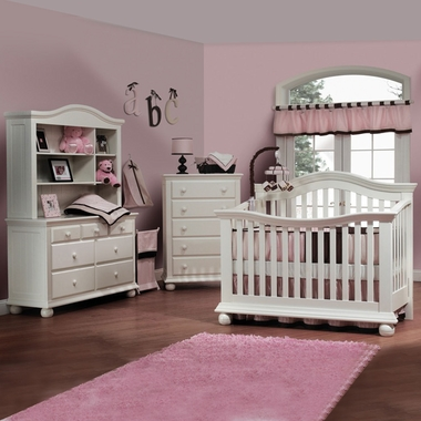 Genial Sorelle Vista 4 Piece Nursery Set   Couture Convertible Crib, Double  Dresser, Hutch And