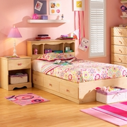 SouthShore Lily Rose Bedroom Sets in Romantic Pine