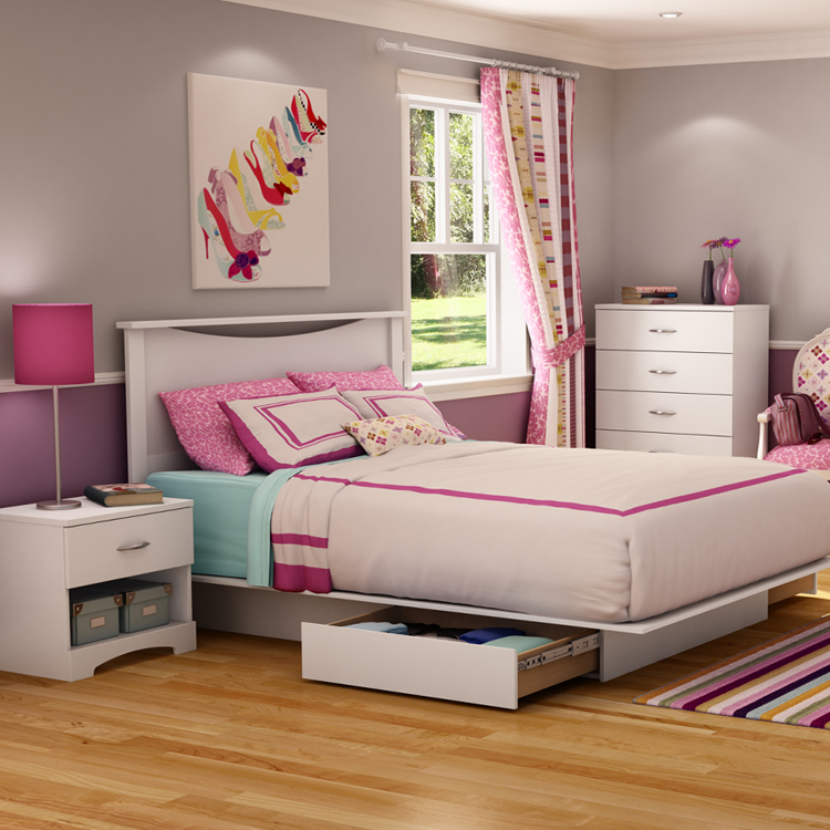 full pdp platform alton bed spaces living white