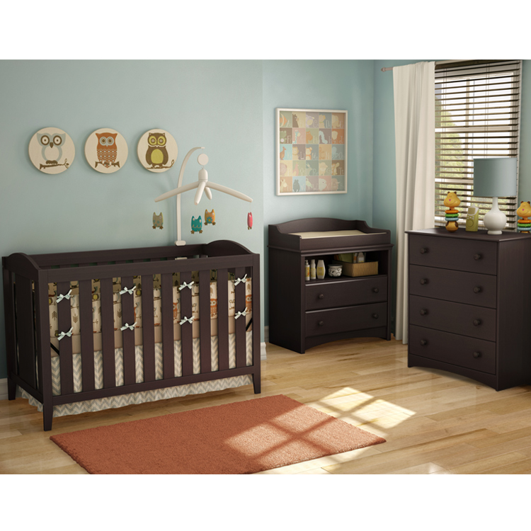 Southshore Nursery Sets - Angel Crib, Changing Table and 4 Drawer ...