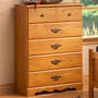 SouthShore Cabana 5 Drawer Chest in Country Pine