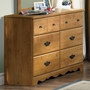 SouthShore Cabana Triple Dresser in Country Pine