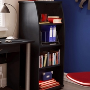 SouthShore City Life Shelf Bookcase in Solid black