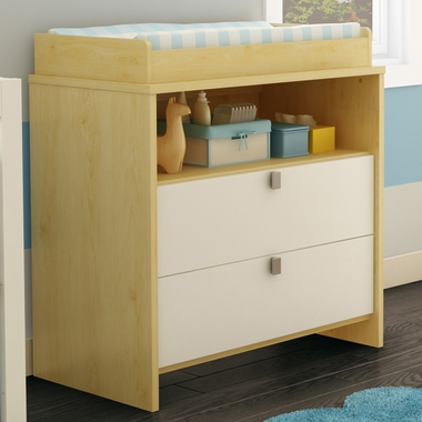 Southshore Cookie Changing Table In Champagne U0026 White   Click To Enlarge