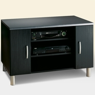 SouthShore Cosmos Collection Media Center in Charcoal & Black Onyx
