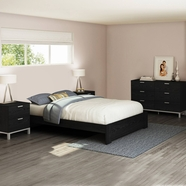 South Shore Flexible Bedroom Sets in Black Oak