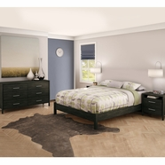South Shore Gravity Bedroom Sets in Ebony