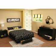 South Shore Holland Bedroom Sets in Pure Black