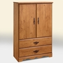 SouthShore Huntington Collection Armoire - Country Pine