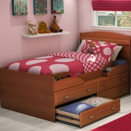 SouthShore Imagine Twin Captain Bed in Morgan Cherry