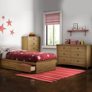 South Shore Jumper Bedroom Sets in Harvest Maple