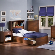 SouthShore Jumper Twin Mates Bed  in Classic Cherry