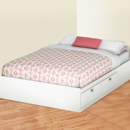 SouthShore Karma Full Mates Bed in Pure White
