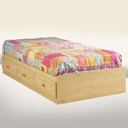 SouthShore Lily Rose Mates Bed in Romantic Pine