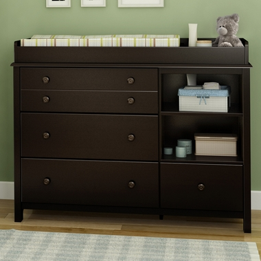 Southshore Little Smiley Changing Table In Chocolate Free