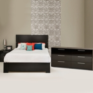 South Shore Mikka Bedroom Sets in Black Oak