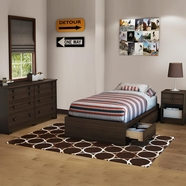 South Shore Popular Twin Beds in Moka