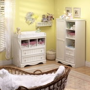SouthShore Savannah Changing Table & Door Chest - Pure White