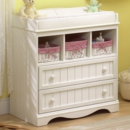SouthShore Savannah Changing Table in Pure White