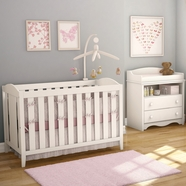 Southshore Savannah Crib and Toddler Rail in Pure White