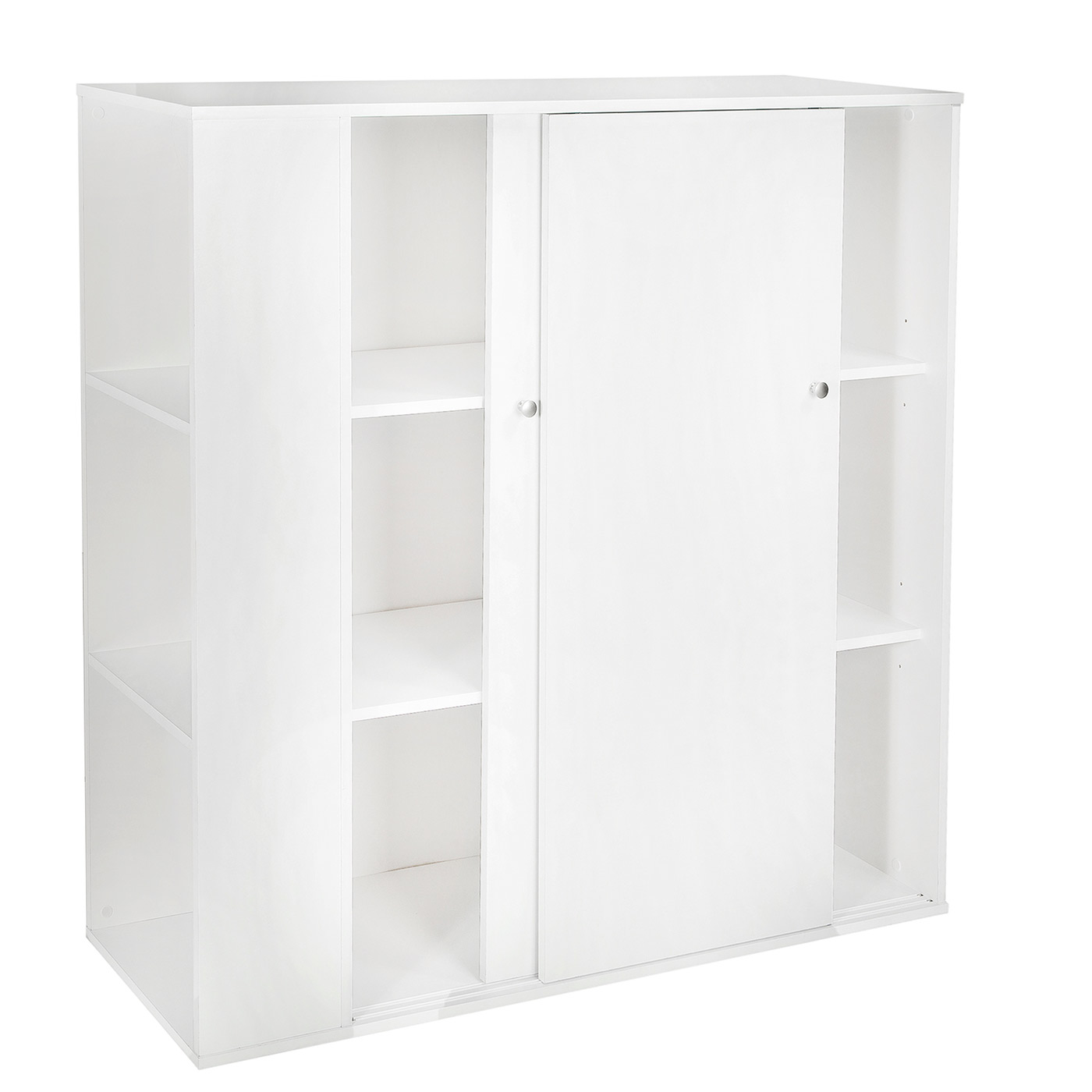 Storage Cabinet Sliding Doors Southshore Storit Kids Storage Cabinet With Sliding Doors In Pure