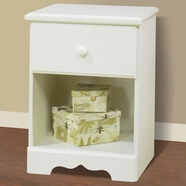SouthShore Summer Breeze Country Night Table in Vanilla Cream