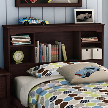 South Shore Willow Twin Bookcase Headboard In Havana 3339
