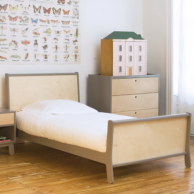Sparrow Collection Twin Bed in Grey by Oeuf